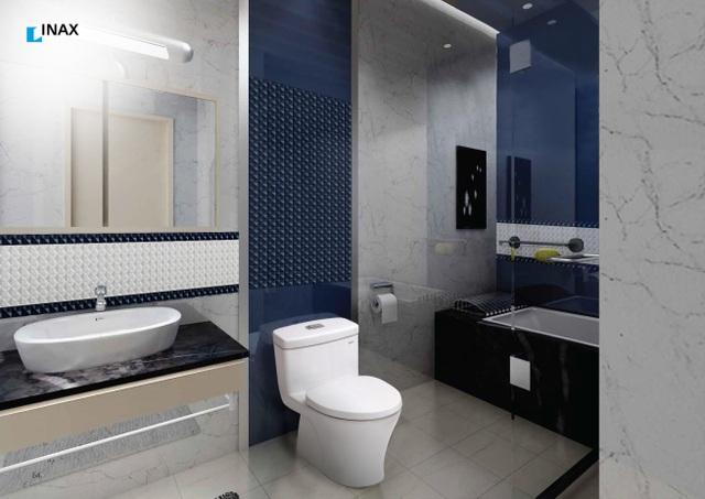 Một thiết kế không gian phòng tắm hiện đại vừa tiện dụng ( Ảnh INAX cung cấp)