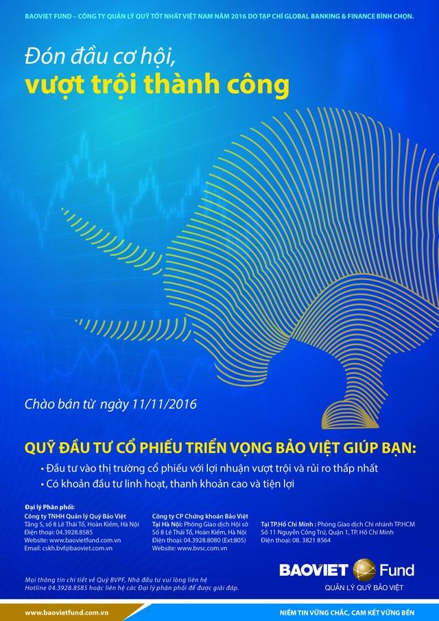 Baoviet Fund ra mắt Quỹ Đầu tư cổ phiếu triển vọng Bảo Việt (BVPF)