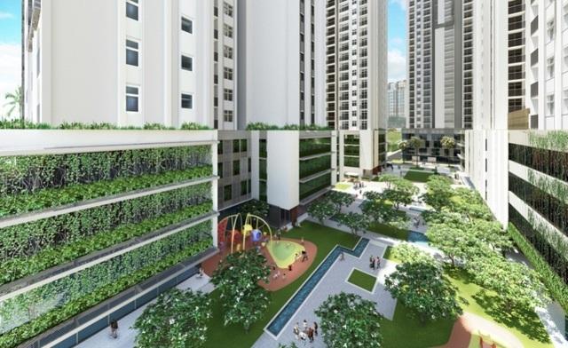 Một số dự án được chăm chút nhiều mảng xanh dành cho cư dân môi trường sống gần gũi với thiên nhiên.