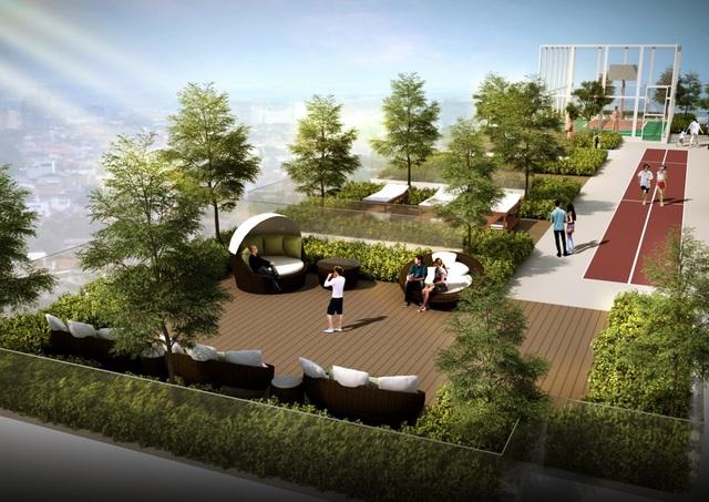 Vườn chân mây tại tầng 30 chung cư HaDo Centrosa Garden - một trong những nơi ngắm nhìn thành phố tuyệt vời nhất tại trung tâm Quận 10