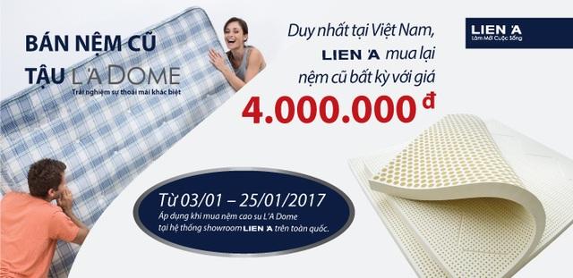 Chương trình đổi nệm độc đáo duy nhất tại Việt Nam do Liên Á tổ chức