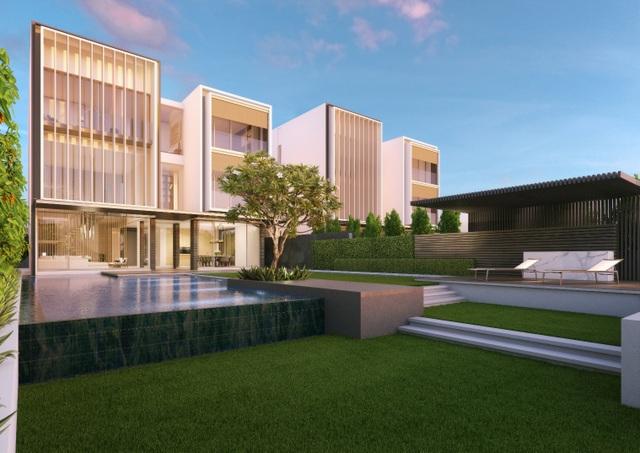 Thiết kế tinh tế trong từng chi tiết, mỗi biệt thự đều có vườn và hồ bơi riêng