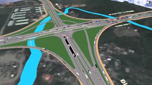 KĐT Cát Lái đang đón nhiều công trình giao thông trọng điểm (trong hình: Nút giao thông Mỹ Thủy sẽ hoạt động vào quý 3/2018)