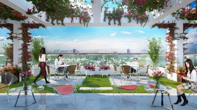 Quán cafe rooftop - không gian thư giãn cuối ngày của cư dân