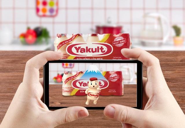 Yakult đã ứng dụng thành công công nghệ AR vào việc đóng gói sản phẩm.
