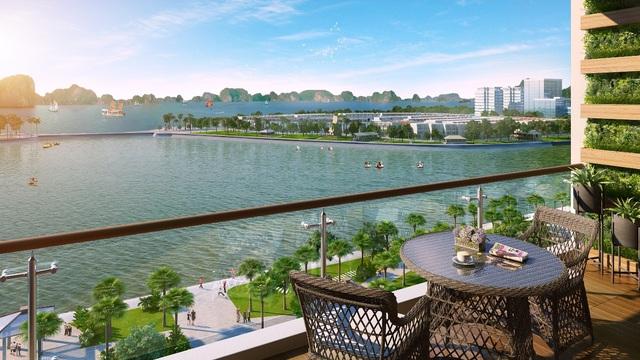 100% các căn hộ Hometel Green Bay Premium đều view hướng biển