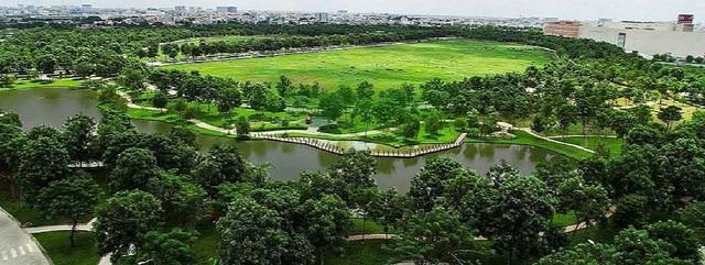 Mảng xanh chiếm phần lớn diện tích dự án
