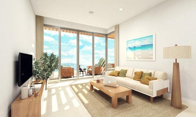 Phòng khách với tầm nhìn hướng biển