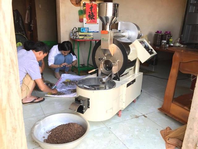 Máy rang café lồng ngang Rio 3 New chuyển giao cho khách hàng ở Tân Hà – Lâm Hà – Lâm Đồng