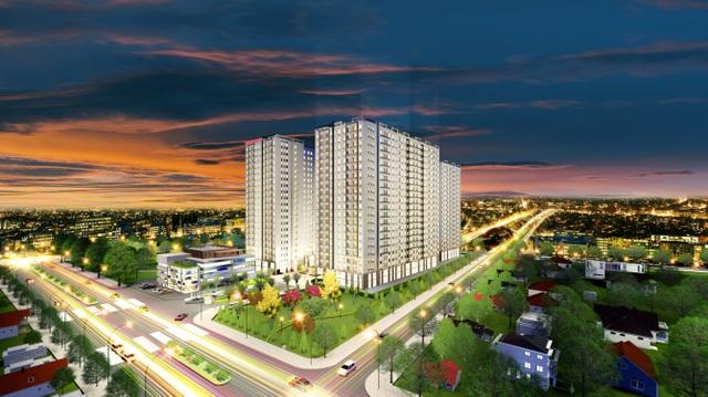 Proper Plaza có vị trí thuận tiện cạnh Trường Chinh, giá chỉ từ 989 triệu đồng/căn