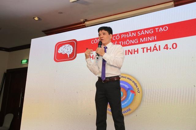 Ông Trần Xuân Thọ - Giám đốc chiến lược công ty Cổ phần Sáng tạo Chia sẻ Thông Minh chia sẻ về những tiện ích và quyền lợi mà Smartshare mang lại cho các thành viên.