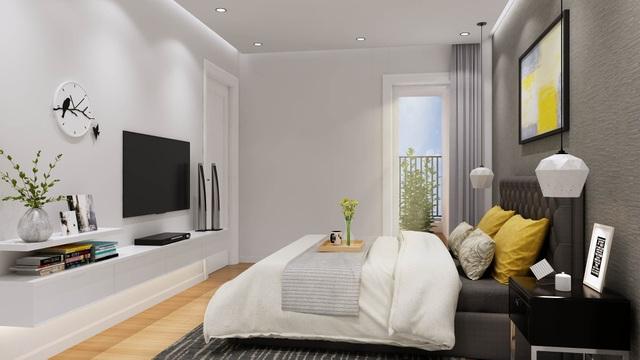 Phòng ngủ master trong căn hộ ICID Complex