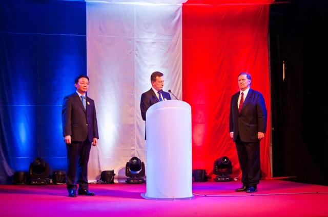 Ông Betrand Lortolary, Đại sứ của Pháp tại Việt Nam phát biểu trong Lễ kỷ niệm