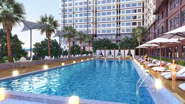 Hồ bơi rộng lớn của dự án Saigon Gateway dành riêng cho cư dân