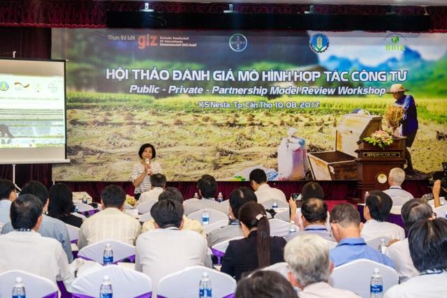 Bà Nguyễn Thị Phương Nga, đại diện tổ chức GIZ chia sẽ tại hội thảo