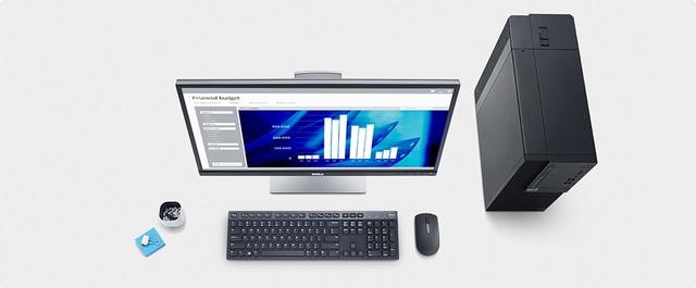 Nhờ thiết kế lưới giúp thoát nhiệt, máy tính để bàn Dell OptiPlex 3050 SFF có độ thông thoáng tối đa giúp không gian bên trong mát hơn khi sử dụng.