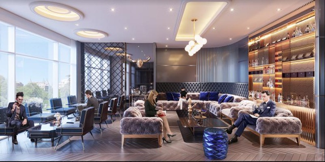 Cigar lounge của dự án The Sapphire Residence