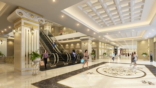 Không gian mua sắm sang trọng, tiện nghi tại chính tòa nhà để phục vụ nhu cầu của cư dân