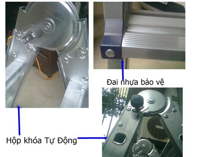 Thang nhôm Poongsan được thiết kế an toàn cho người sử dụng