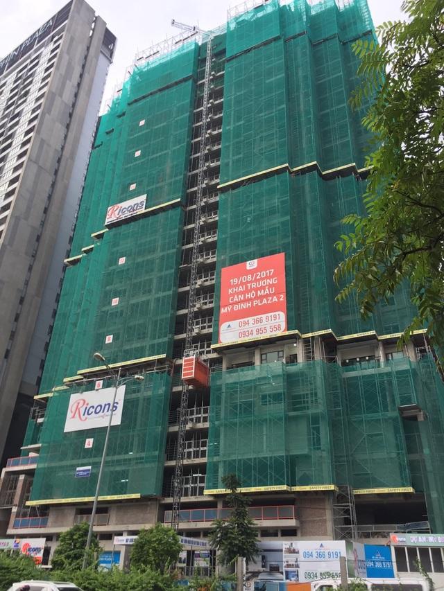 Hình ảnh công trường Mỹ Đình Plaza cập nhật ngày 30.09.2017, đã xây đến tầng 27.
