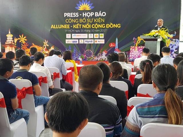 Ông Nguyễn Hữu Tiến – Chủ tịch Hội đồng quản trị Công ty CP Allunee, Trưởng ban tổ chức phát biểu tại buổi họp báo.