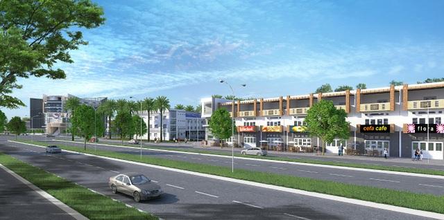 Dãy nhà phố thương mại nằm trên mặt tiền Tỉnh lộ 830 là vị trí lý tưởng để kinh doanh và cho thuê mặt bằng