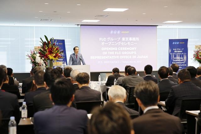 Ông Trịnh Văn Quyết, Chủ tịch HĐQT Tập đoàn FLC, phát biểu tại sự kiện