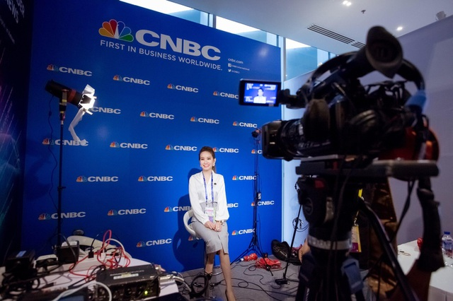Doanh nhân Huyền Cò trả lời phỏng vấn đài CNBC