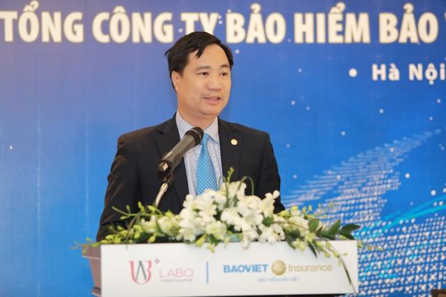 Ông Nguyễn Xuân Việt - Phó TGĐ TCT Bảo hiểm Bảo Việt phát biểu