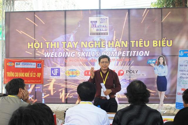 TS. Phan Miêng - Chủ tịch phân hội Khoa học Kỹ thuật Hàn TP Hồ Chí Minh, Trưởng ban tổ chức Hội thi
