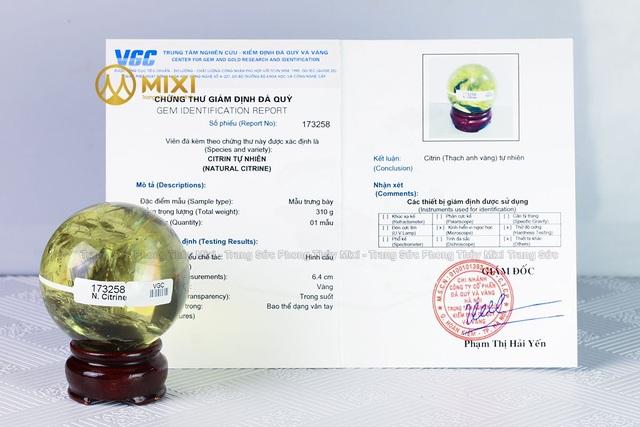 100% sản phẩm đá tại Mixi đều có giấy Kiểm định tại Trung tâm nghiên cứu – kiểm định đá quý và vàng VGC
