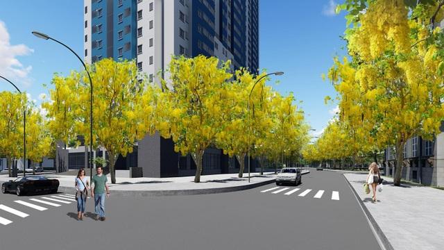 Con đường hoa Osaka của chung cư Osaka Complex