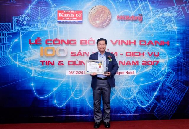 Ông Chun Hae Woo – Tổng Giám đốc Lock&Lock Việt Nam - vinh dự nhận giải thưởng Top 10 Sản phẩm, Dịch vụ Tin & Dùng 2017.