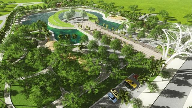 Khi hoàn thành, công viên Hồ Âm nhạc hứa hẹn là nơi nghỉ ngơi, vui chơi lý tưởng cho mọi cư dân