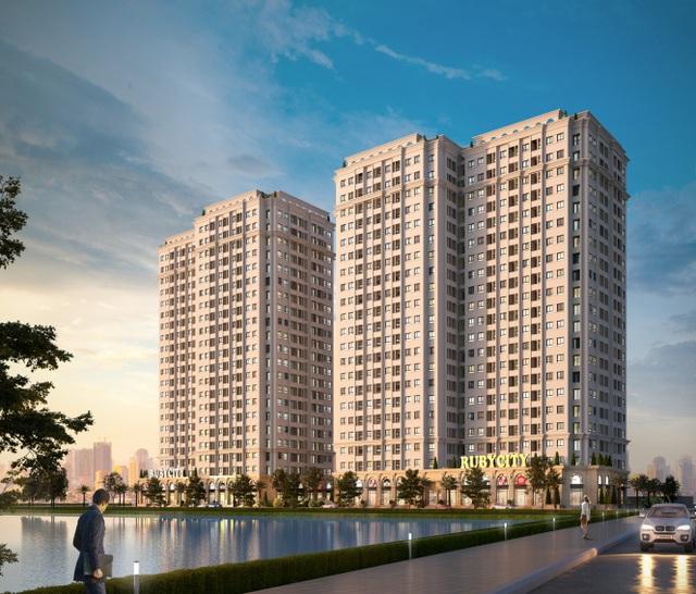 Phối cảnh Dự án Chung cư Ruby City CT3, Phúc Lợi - Long Biên – Hà Nội