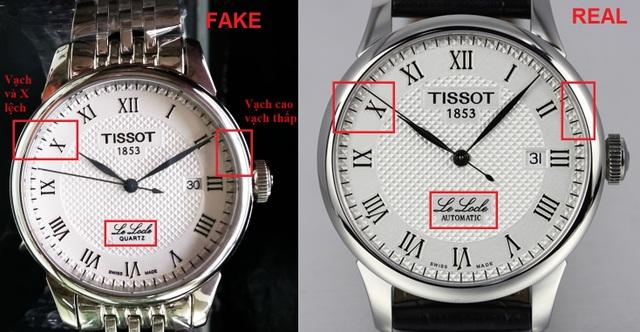 Các chi tiết nhỏ trên đồng hồ thường bị làm giả nhưng ít ai để ý đến. Hãy quan sát kĩ!