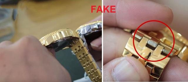 Dây kim loại đồng hồ Giả lỏng lẻo, không mịn, màu mạ không đều và nhẹ