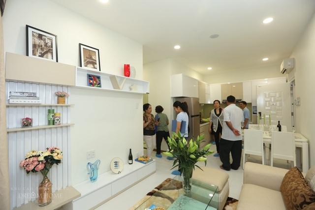 Đa phần khách hàng đều hài lòng với lối thiết kế căn hộ mẫu của Dream Home Riverside sau khi tham quan.