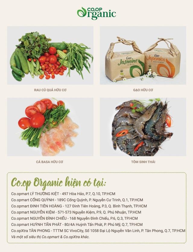 4 nhóm sản phẩm Co.op Organic đang được Co.opmart và Co.opXtra kinh doanh độc quyền