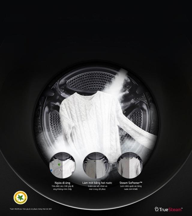 Công nghệ True Steam giúp giặt sạch hơn và bảo vệ sức khỏe cả gia đình