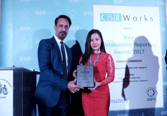 Bảo Việt đạt giải Báo cáo phát triển bền vững tốt nhất khu vực Châu Á 2017