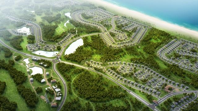 Phối cảnh dự án quần thể du lịch nghỉ dưỡng FLC Quang Binh Beach & Golf Resort