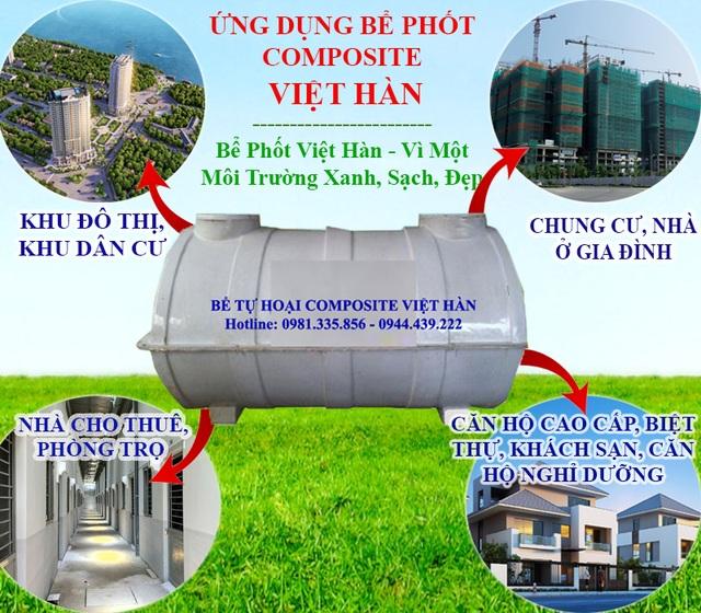 Bể tự hoại, bể phốt Composite Việt Hàn - Giải pháp mới thay thế bể phốt truyền thống - 1