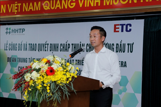 Đại diện Công ty ETC phát biểu tại buổi lễ