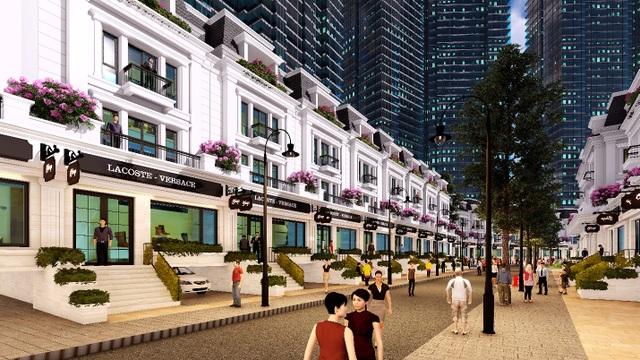 Khu vực thấp tầng Sunshine City với những căn shophouse đẹp mắt thu hút nhiều khách hàng quan tâm.