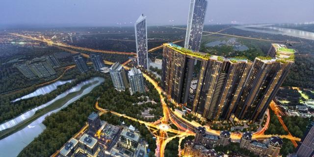 Sunshine City sở hữu vị trí đắc địa bên sông Hồng, view hồ Tây, cạnh trục tuyến đường Nhật Tân – Nội Bài đắt giá.