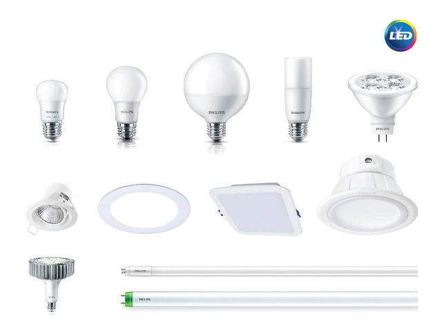 Đèn Philips LED có thể tiết kiệm đến 80% điện năng so với các loại đèn công nghệ cũ