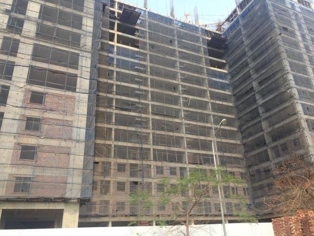 Hiện dự án đã xây dựng đến tầng 18/19 tầng