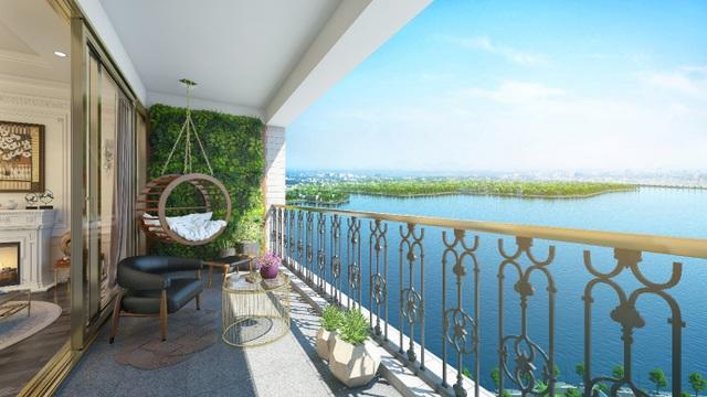 Các căn hộ tại D'. El Dorado I sở hữu tầm view ôm trọn hơn 500 ha diện tích mặt nước hồ Tây và một vùng cảnh quan sinh thái sông Hồng rộng lớn, sẽ mang đến cho cư dân không gian sống trong lành, khoáng đạt.