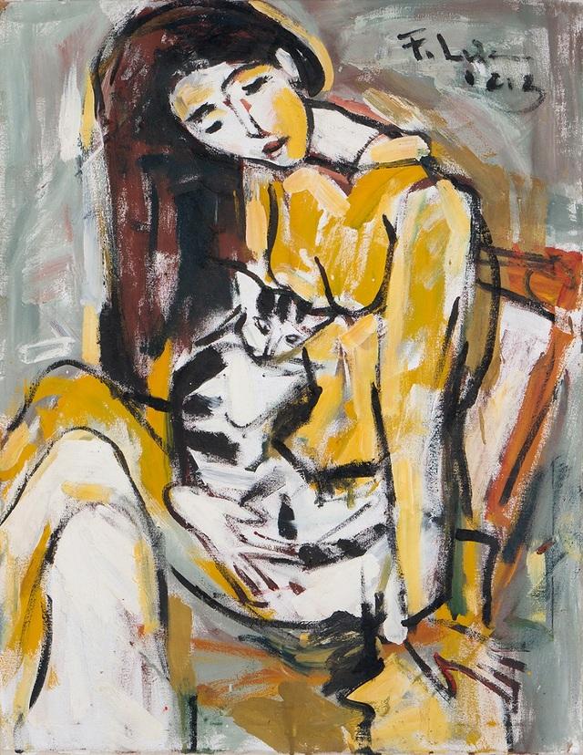 Phạm Lực - Thiếu nữ ôm mèo (2013)